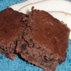 Carob Fudge Brownies - These brownies feature neither sugar nor chocolate, rather they are sweetened with honey and use carob powder and brewed tea to give flavor.