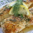 Lemony Steamed Fish - Mild flavored, flaky fish fillets. Any number of different types of fish will work, and you can increase the recipe easily. Try halibut, cod, salmon, red snapper, trout, etc. Serve with a white and wild rice blend.