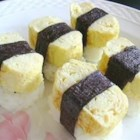 Japanese Tamago Egg - The sweet, light rolled omelet from Japan makes a great addition to your sushi platter. Use vegetarian dashi if you prefer.