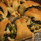 Broccoli Chicken Roli -   Refrigerated crescent rolls speed up the preparation of these chicken, vegetable and cheese pastries.  Suitable for appetizers or as a main course.