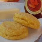 Pumpkin and Maple Biscuits - Canned pumpkin and sour cream add the moisture to this biscuit recipe accented with maple favoring and syrup.