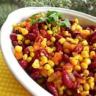 Summer Kidney Bean Salad - This summer kidney bean and corn salad is quick and easy to prepare and perfect for a picnic.