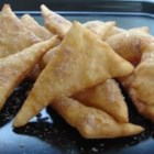 Real Sopapillas - Crispy Mexican flatbread deep fried and golden brown.