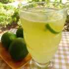 Honey Limeade - A refreshing drink on a hot day. Lime juice and water, sweetened with sugar and honey.