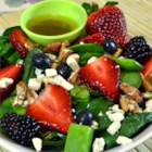 Sugar Snap Pea and Berry Salad - A delicious summer salad made with your favorite berries.