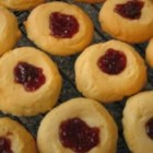 Soldier Buttons - This is a Turkish thumbprint cookie filled with strawberry jam.