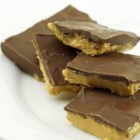 Easy Buckeye Bars - The traditional ingredients of chocolate and peanut butter are layered in a jelly roll pan creating easy-to-eat buckeye bars.