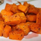 Simple Roasted Butternut Squash - Roasted butternut squash with garlic is a quick and easy side dish ready in less than an hour for a weeknight or a holiday gathering.