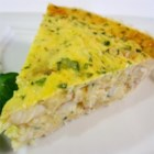 Crab and Cheddar Quiche - Make this easy and rich crab and Cheddar cheese quiche with a prepared pie crust for a special brunch treat.