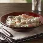 Slow-Cooker Pantry Chicken Stew - This easy slow-cooker chicken stew is loaded with vegetables and chunks of chicken in a creamy sauce.