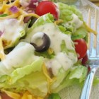 Ranch Dressing II - This is for those who prefer herbs rather than spice. Creamy and delicious - it is the perfect accompaniment to chicken, ham or crisp salad greens.