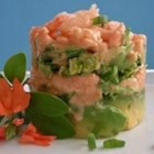 Shrimp and Avocado Salad - A lovely baby shrimp and chive salad tucked into avocado halves. The combination of flavors and textures - especially the creamy mayonnaise dressing spiked with Worcestershire and chili sauce  - is sensational.