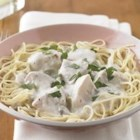 Angel Chicken - Prep in the morning and come home to slow-cooked chicken in a creamy mushroom sauce. If only every dinnertime were this easy.