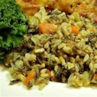 Wild and Brown Rice - This hearty pilaf, made with wild and brown rice, carrots, celery, onion, and herbs, makes an excellent side dish with game birds. It can be prepared ahead of time and microwaved just prior to serving.