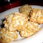 Coconut Macaroons IV - This is a recipe my aunt made in the 30's. A meringue cookie with coconut and cornflake cereal. I could never eat enough of them.
