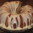 Pear Preserves Cake - Three spiced layers with pecans and pear preserves, and decorated with caramel frosting.