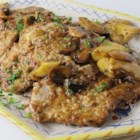 Veal Forestiere - Thin veal cutlets are breaded and browned, then served in a sauce of mushrooms and artichoke hearts, flavored with shallots, garlic and Marsala wine.