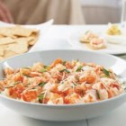 PHILLY Shrimp Cocktail Dip - The procrastinator's dream recipe: 10 minutes to party time is all you need to turn 5 ingredients into a savory app. Better snag a scoop quickly-these bites won't last long.