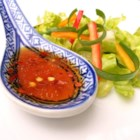Korean Style Salad Dressing - Try this Korean-style salad dressing over spinach.