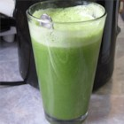 Healthy Green Juice - This spicy green juice cocktail is made with fresh kale, ginger, celery, cucumber, and green apples.