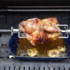 Rotisserie Chicken - Directions for cooking a rotisserie chicken on a gas grill with rotisserie attachment. This is a great easy recipe that our family loves.