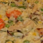 Easy and Comforting Chicken Rice Casserole - A mild and comforting dish of chicken, rice, and vegetables is easy to make.