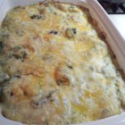 Poblano Chicken Enchilada Casserole - I've begun making my enchiladas casserole style, which saves a lot time, not to mention burned fingers. :) However, everyone still raves over my enchiladas, and this recipe recently earned a round of applause when I made them on a skiing holiday. The sauce is actually a modified Alfredo recipe and is also great over fajitas.
