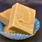 2-Ingredient Peanut Butter Fudge - You just need some white chocolate coating and a jar of peanut butter to make a batch of tender, luscious fudge. Kids can help make the super-simple fudge.