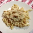 Alfredo Chicken - Short on time? Five ingredients and four steps make this dish of chicken in a creamy sauce easy and delicious.