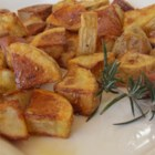 Roasted Parmesan Rosemary Potatoes - Fresh rosemary turns everyday potatoes into a comforting side dish for breakfast, lunch, or dinner.