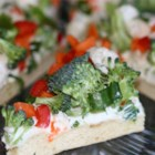 Vegetable Pizza I - Quick and easy recipe that is great at parties and showers.  You can use any combination of chopped veggies and cheeses-whatever your family likes!