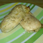 Garlic Chicken Breasts - Chicken breasts are marinated in a tangy garlic sauce and baked for a quick weeknight dinner.