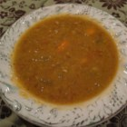 Vegetarian Split Pea Soup - Pressure cooker version of split pea soup for vegetarians.  Smoky flavor added using chipotle peppers.