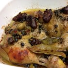 Prune and Olive Chicken - In Chicken Marbella, as this dish is commonly known, chicken marinates in a sauce of prunes, green olives, garlic, olive oil, and seasonings. It is well worth the time it takes to make, as this marvelous Mediterranean fare is a perfect party dish, and keeps and reheats well.