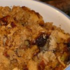 Jim's Cornbread Stuffing - Chopped hard-boiled eggs, black olives, and water chestnuts are tossed with chunks of cornbread, celery, onion and seasonings in this dressing for a 10 to 12 pound turkey.