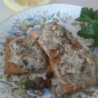 Italian Tuna Spread - Blending canned tuna with capers, lemon juice, parsley, and butter will give you a spread for your antipasto platter or for terrific tuna fish sandwiches.