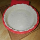 Mom's Pie Crust for a Double Crust Pie - Flour, salt, shortening, and water are all you need to make a simple pie crust for a double-crust pie.