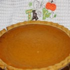 Simple Pumpkin Pie - This quick and simple pumpkin pie uses a pre-made crust and canned pumpkin puree for a fast and easy dessert.