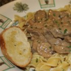 Creamy Beef Stroganoff - This Stroganoff recipe produces a creamy sauce for the ground beef thanks to the use of prepared golden mushroom soup. Toss with egg noodles for a hearty meal.