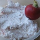 Radish Dip - This spicy radish dip is loved by all and so easy to make. Adjust the amounts of radish and garlic to suit your taste. Serve with crackers or vegetables.