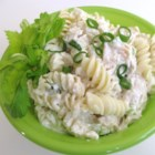 Turkey Macaroni Salad - This yummy salad would be great stuffed into hollowed out tomatoes or pita bread. The mayonnaise takes on a whole different personality when blended with yogurt, and this delicious dressing really compliments both the chunks of turkey and the cooked pasta.