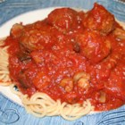 Restaurant Style Spaghetti Sauce - Italian sausage and Merlot wine make this tomato sauce an elegant, delicious favorite.