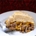 'Chinese' Pie - It's not Chinese and it's not a pie, but your family, kids included, will love this easy layered casserole of ground beef, corn, and mashed potatoes.