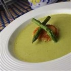 Cream of Fresh Asparagus Soup II - Put that fresh spring asparagus to good use in this creamy soup! Asparagus and onion are cooked in chicken broth, pureed, and combined with milk, sour cream, and a little fresh lemon juice.