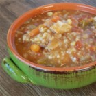 Zippy and Tangy Turkey Rice Soup - A hearty soup with lots of vegetables and rice is a great use for a leftover turkey frame. Simmer the bones to make a rich broth and use the chopped turkey meat in the soup.
