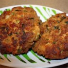 Salmon and Shrimp Cakes - These easy broiled salmon and shrimp cakes, seasoned with a lively mixture of mayonnaise, Dijon mustard, Worcestershire sauce, and Old Bay(R), are quick to prepare.