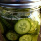 Lazy Housewife Pickles - Fresh-tasting refrigerator pickles in the bread-and-butter style don't even need boiling. Just place sliced cucumbers into jars, cover with sweet and sour pickling mixture, and refrigerate for a week.
