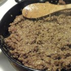 Minced Collops - This is a Scottish recipe for ground beef cooked with onion and steel-cut oats.