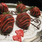 Healthier Chocolate Covered Strawberries - Perfect for special occasions, these chocolate dipped strawberries get a little dressed up with white chocolate and sprinkles.