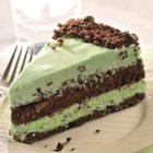 Dark Chocolate and Mint Ice Cream Torte - Layers of chocolate and mint work their tasty magic in this delicious frozen dessert.
